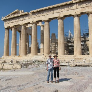 Gwen and Gene at the Acropolis in Athens