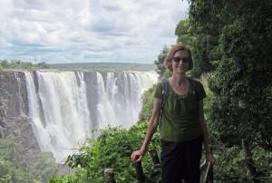 Gwen at Victoria Falls, Zimbabwe.